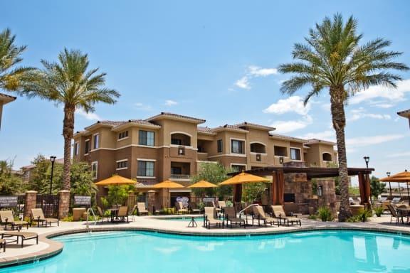 Resort-Style Pool at Centennial at 5th Apartments in Las Vegas 89084