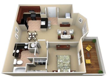 A1 Floor Plan Layout, Walton Lakes, Atlanta GA