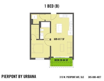 Floor Plan 1 BED (B)