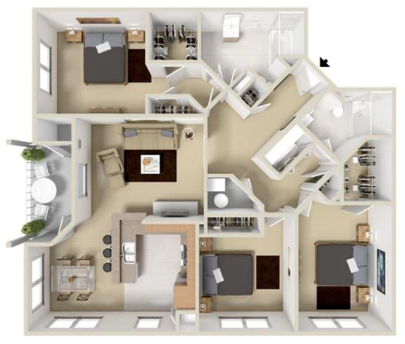 Floor Plan  Berkshire Floor Plan at Overlook at Valley Ridge, Indiana, 46237