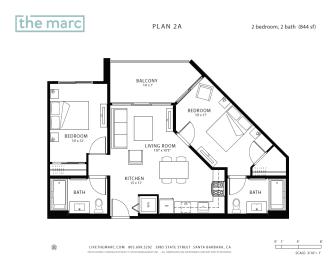 Floor Plan Plan A2 - Furnished