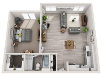 Floor Plan 1x1 A
