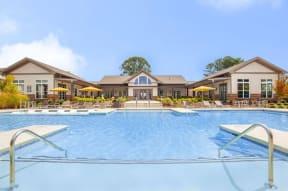Resort Style Pool with Aqua Sundeck  at One White Oak, Cumming, 30041