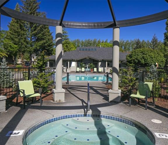 Community hot tub and pool