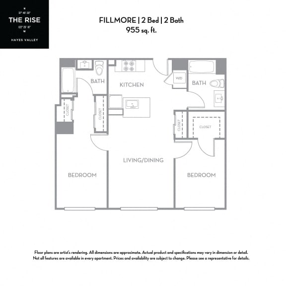 Floor Plan  The Rise Hayes Valley Fillmore 2x2