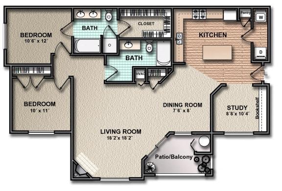 Floor Plan  B3_south_austin_rentals
