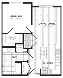 A6 Floor Plan at Rivergate, Woodbridge, VA