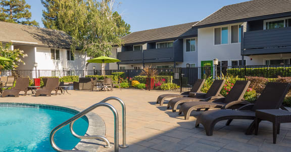 Relax by the Pool at The Meridian in Walnut Creek, CA