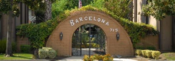 Apartment Entrance at Barcelona Apartments, Visalia