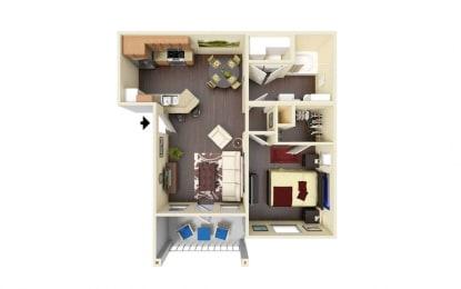 Agarito Floor Plan at Residence at Midland, Texas, 79706