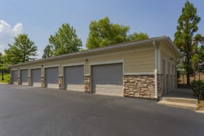 Exterior view of garage space
