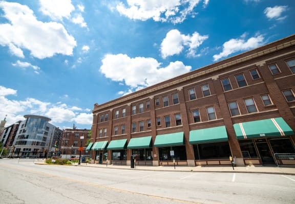 Street view of building at The Argyle on Mass Ave, 615 N. East Street, Indianapolis