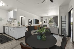 Newly renovated 2 bedroom Kitchen