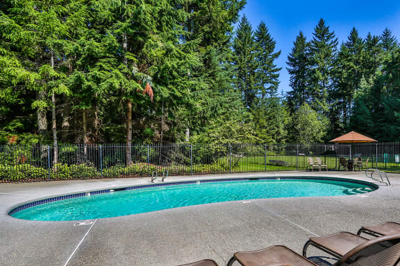 Sparkling Pool with Sundeck at Downtown Bremerton Apartments
