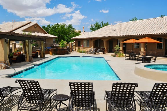 Refreshing Swimming Pool at Albuquerque Apartments Near Paseo Del Norte