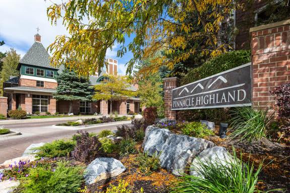 Front Entrance at Pinnacle Highland Apartments  84121