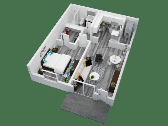Floor Plan  Mandarin Bay Apartments One Bedroom