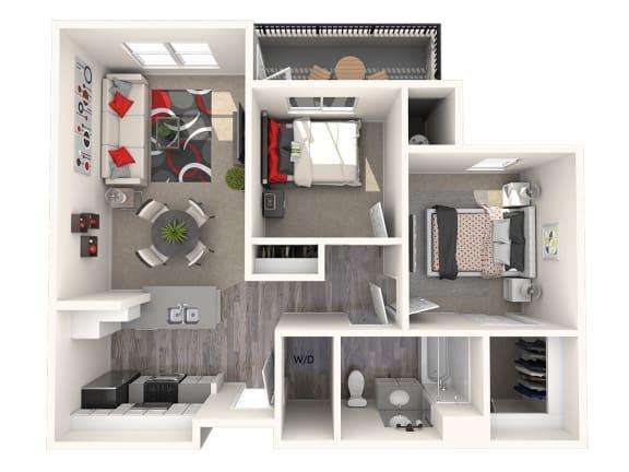 Floor Plan  McIntosh Floor Plan at 55+ FountainGlen Laguna Niguel, Laguna Niguel, California