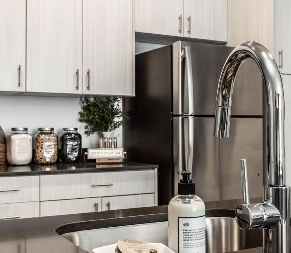 Model Kitchen at Marcato Apartments in Kansas City, Mo
