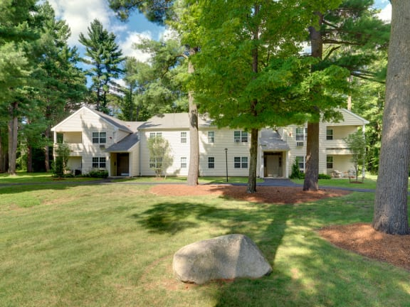 Exterior of Wilkins Glen Apartments in Medfield, MA