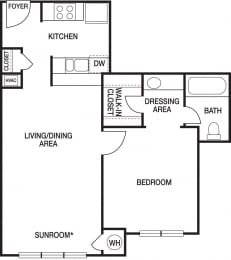 Floor Plan A1 Renovated