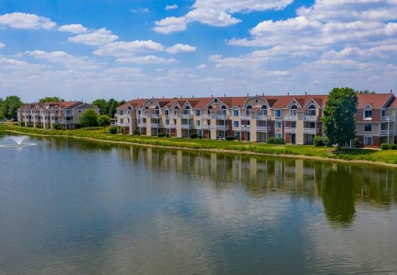 Serene Pond Within Community at Indian Lakes Apartments, Mishawaka, 46545
