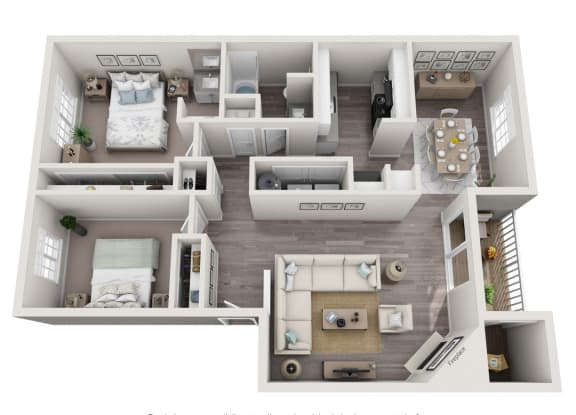 Floor Plan  Pine - 2x1