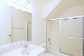 Alternate Bathroom desing with glass shower doors