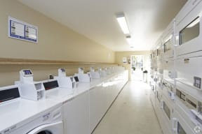 Clean and spacious Laundry amenities