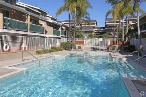 Crystalline water of community pool