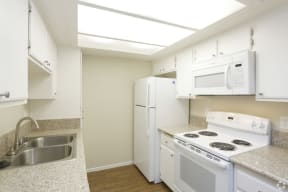 Kitech detail view with all appliances and sink