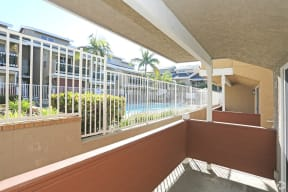 One-bedroom unit downstairs balcony by the pool area