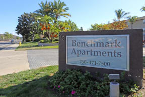 Street-curb view of property signage