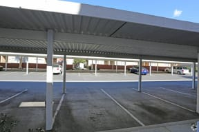 view of parking area