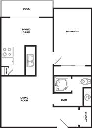 Woodside Vista | 1x1 600 square feet
