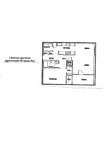 Floor Plan  1Bedroom/1Bathroom