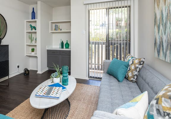 Cozy Living Room at Sunset Canyon Apartments,CLEAR Property Management,Texas