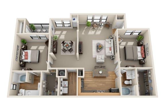 Floor Plan  Deerwood, B3