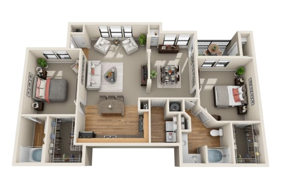 Floor Plan  Deerwood, B2
