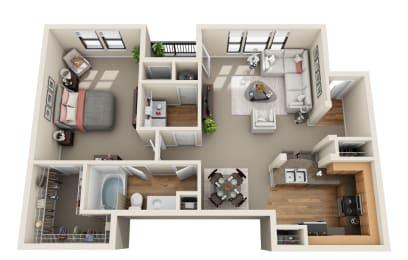 Floor Plan Bluebonnet, A2