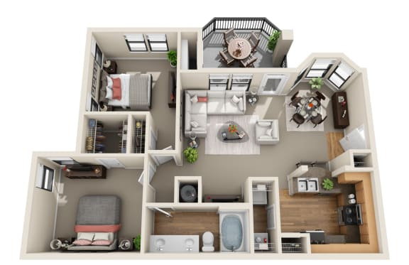 Floor Plan  Cedar Sage, B
