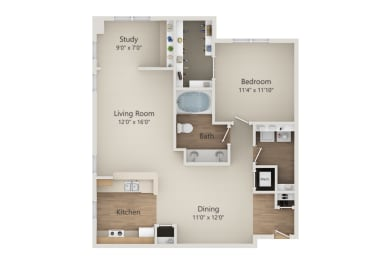 A3 floor plan | Park at Monterey Oaks