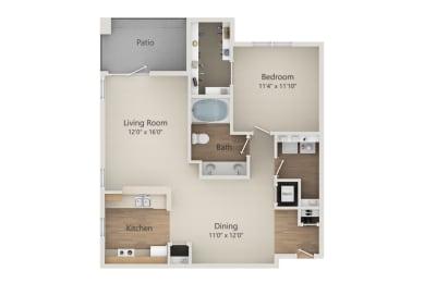 A2 floor plan | Park at Monterey Oaks