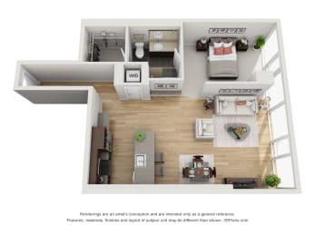 Floor Plan 1 Bed/1 Bath-03
