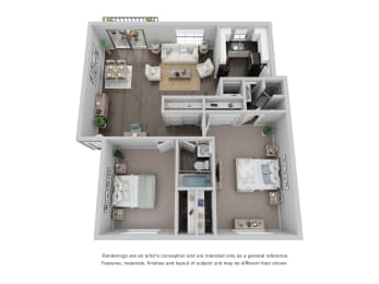The Willow- 2BD 2BA