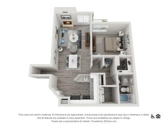The Hamptons  Apartments The Essex Floorplan