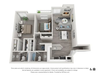 The Hamptons  Apartments The Brookhaven Floorplan