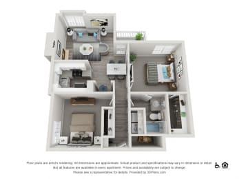 The Hamptons  Apartments The Hamilton Floorplan