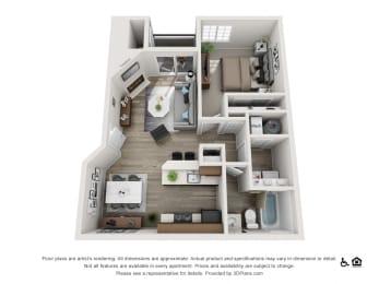 Floor Plan  Ascent Apartments Elevation Floorplan