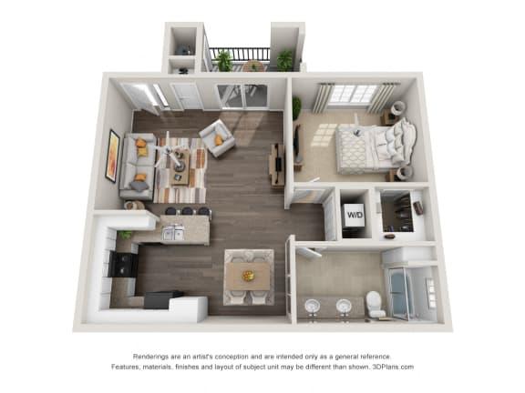 Floor Plan  One Bedroom Apartment Floorplan